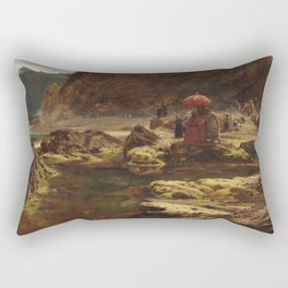 Albert Goodwin - The Sultan and His Camp by the Enchanted Lake (1888) Rectangular Pillow