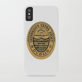 Vintage Guinness Extra Stou Label iPhone Case