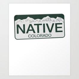 Colorado Native colorado Art Print
