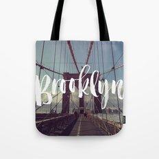 Brooklyn Bridge Photography and Calligraphy Tote Bag