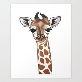 Baby Animal Nursery Art - Gender Neutral - Giraffe Art Print