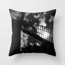 shot on iphone .. windmill silhouette Throw Pillow