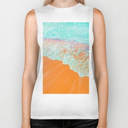 Coral Shore #photography #digitalart Biker Tank
