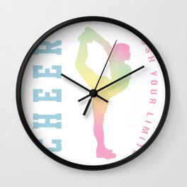 Push your limits pastel Wall Clock