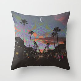 Spaced-Out Night Throw Pillow