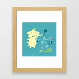 Mr. Pho & Tea Leaves Framed Art Print