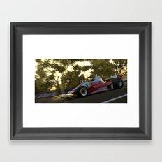 Ferrari At Bathurst Framed Art Print