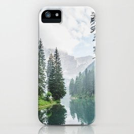 Forest Reflection in Italy iPhone Case