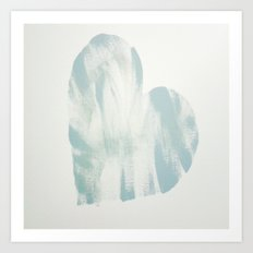 blue, Love Art Print