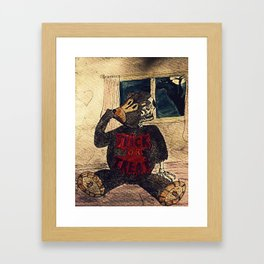 Hal The Halloween Teddy Framed Art Print