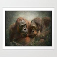The close friends..... Art Print