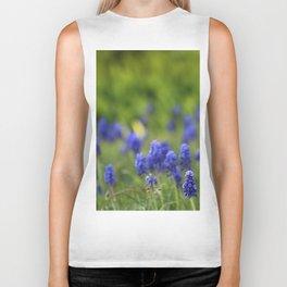 Grape Hyacinth in Spring Biker Tank
