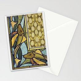 Rougets vitrail Libellules et monnaie du pape etoffe from Lanimal dans la decoration (1897) illustra Stationery Cards