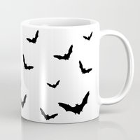 bats Mugs featuring Bats by Miles Maxwell