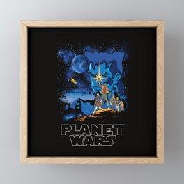 Planet Wars Framed Mini Art Print