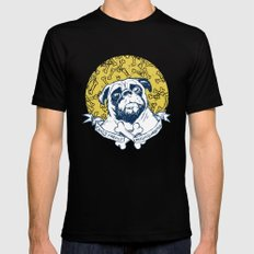 Pug : Small dog, big attitude. Mens Fitted Tee LARGE Black