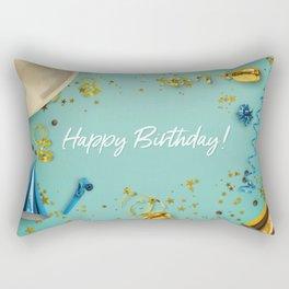 Happy Birthday Party Scene Layflat Rectangular Pillow