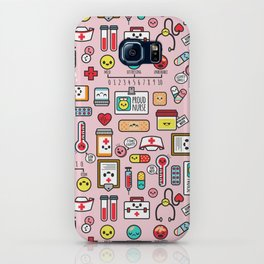 Proud To Be A Nurse pattern in pink iPhone Case