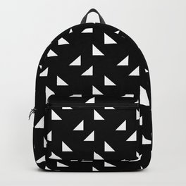 triangles in black Backpack