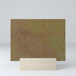 Abstract copper rusty crumpled paper Mini Art Print