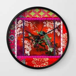 An afternoon in the oriental gardem Wall Clock