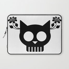 Cat Skull Flower Laptop Sleeve