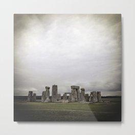 Moody Stonehenge Metal Print