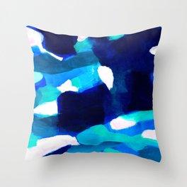 Dappled abstract artwork Throw Pillow