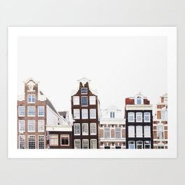 Crooked Houses - Amsterdam Architecture Photography Art Print