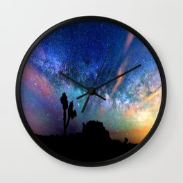 Colorful milky way Wall Clock