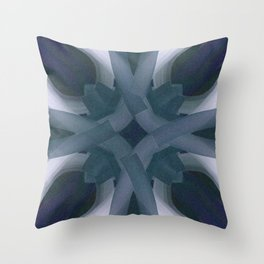 Blue Stars and Bars Throw Pillow