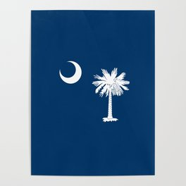 flag south carolina,america,us,Savannah,Palmetto,Carolinian,cotton,Confederate,Goose Creek,Rock Hill Poster