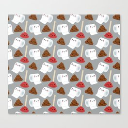 Toilet pattern Canvas Print