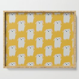 Cute sweet Dog Yellow Serving Tray