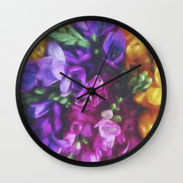 Freesias Wall Clock