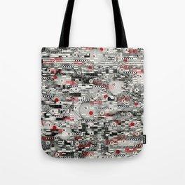 The Flaw Advantage (P/D3 Glitch Collage Studies) Tote Bag