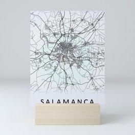 Salamanca, Spain, White, City, Map Mini Art Print