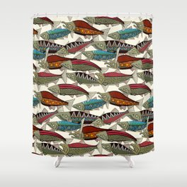 Alaskan salmon pearl Shower Curtain