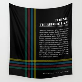 Philosophia II: I think, therefore I am Wall Tapestry