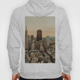 Vintage San Francisco Cityscape (Color) Hoody