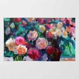 Flowers on The Garden Table Rug