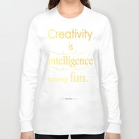 creativity Long Sleeve T-shirts featuring Creativity by Cecilie