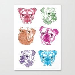 N E O N // bulldog Canvas Print