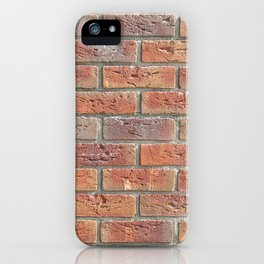 Brick wall texture photo iPhone Case
