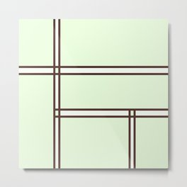 Green Space Metal Print