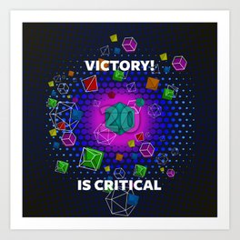 Victory! is Critical Art Print