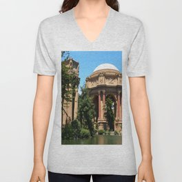 View Over The Lagoone To The Palace Of Fine Arts - San Francisco Unisex V-Neck