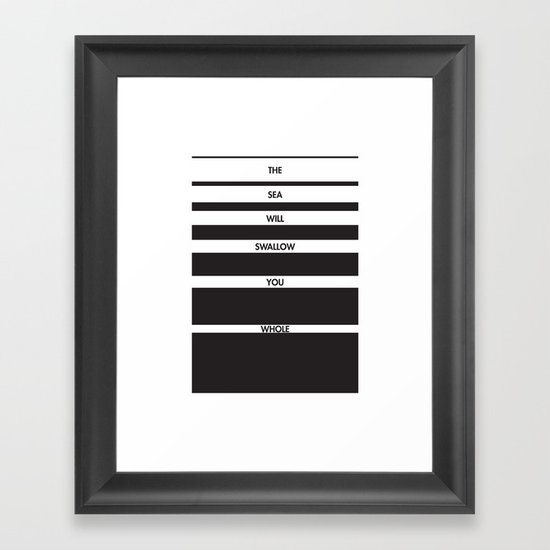 Swallow You Whole Framed Art Print