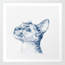 Cute chilling cat Art Print