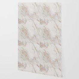 Marble Rose Gold Blush Pink Metallic by Nature Magick Wallpaper